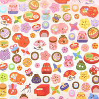 cute Japanese chiyogami stickers