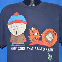 90s South Park Oh My God They Killed Kenny Comedy Central t-shirt Extra-Large