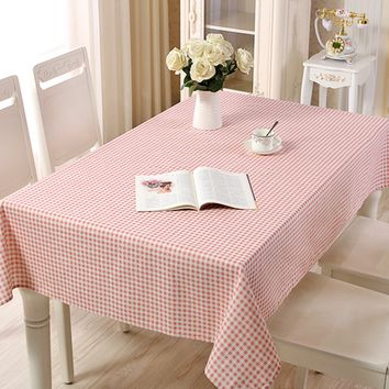 Gingham Print Table Cloth