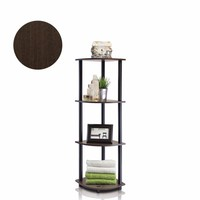 Furinno Turn-N-Tube 4-Tier Corner Display Rack Multipurpose Shelving Unit