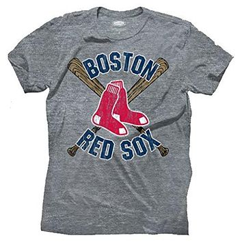 Mens Majestic Threads Boston Red Sox Tri Blend Tee Shirt