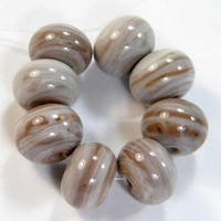 Painted Desert Odd Handmade Lampwork Glass Beads Opaque Shiny 997g