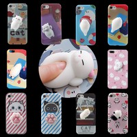 3D Cartoon Ushihito Kawaii Squishy Animals Soft Protective Phone Case Cover For iPhone 6 6s Plus 7 Plus Fashion Back Cover Coque
