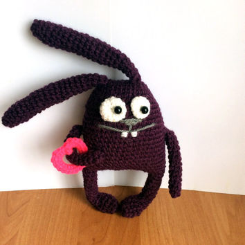 Valentine day Rabbit Valentine Gift for Valentines Day Crochet toy Valentine toy