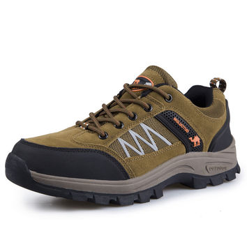 Comfort Thick Crust Height Increase Men Plus Size Hiking Shoes = 6450494019