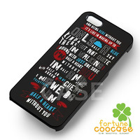 1D One Direction Lyric Half a Heart -3 for iPhone 4/4S/5/5S/5C/6/ 6+,samsung S3/S4/S5/S6 Regular/S6 Edge,samsung note 3/4