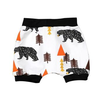 2017 Boys Shorts Girls Children Shorts Panda Shark Print Toddler Summer Beach Harem Shorts 2016 New Baby Kids Clothes Trousers