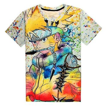 Naruto Sasauke ninja New Fashion 3D Printed T-Shirts Mens Summer Japanese s  Cartoon Character Graphic Painted Tees Homme For Unisex AT_81_8
