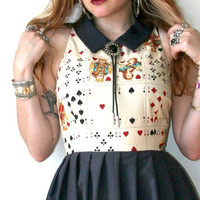 Ace of Spades Playing Card Dress Sz XS S M