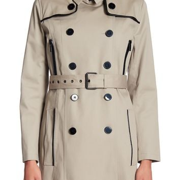The Kooples | Belted Zip Detail Coat | Nordstrom Rack