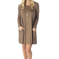 You Simply Must- Coffee Dress