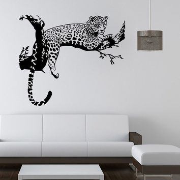 Wall Decal Wild Large Leopard Animal Wall Sticker Wall Decal Art Mural Home Decor