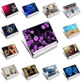 """Prints 15""""15.4""""15.6"""" Laptop Skin Decal Sticker Cover Female's PVC Notebook Reusable Screen Protector for Macbook Lenovo HP ASUS"""
