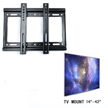 "TV Wall Mount Flat Screen Bracket Panel Fixed Mount for 14""~40"" LCD LED Plasma HDTV Hanging Rack Holder Stand YB145-SZ"