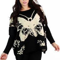 Plush Butterfly Sweater