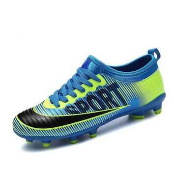 Men Teenagers Different Colors Cheap Indoor Soccer Shoes Lace Up Soccer Boots Original Lightweight Football Boot Studs