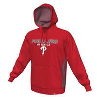 Majestic Philadelphia Phillies Rookie Phenom Synthetic Performance Pullover Hoodie - Red