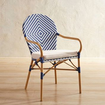 Navy Woven Bistro Chair