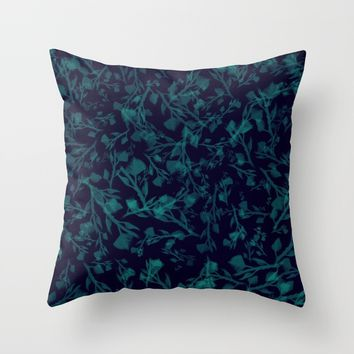 leaf pattern Throw Pillow by Berwies