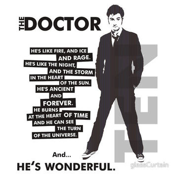 Doctor Who - ...he's wonderful (variant 2) by glassCurtain