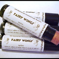 Tinted Lip Balm Fairy Wings All Natural Pink Rose Lipstick