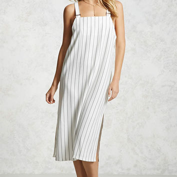 Striped Overall Midi Dress