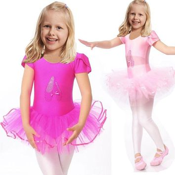 Cute Girls Ballet Dress For Children Girl Dance Clothing Kids Ballet Costumes For Girls Dance Leotard Girl Dancewear
