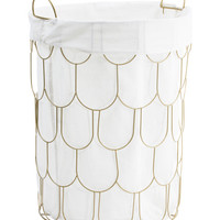 Medium Metal Scallop Laundry Hamper - Storage & Organization - T.J.Maxx