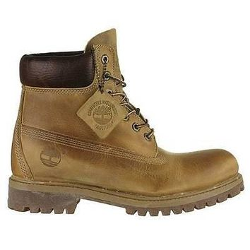 "Timberland Mens Heritage 6"" Premium Boots Wheat Burnished Leather 27092"