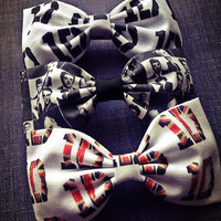 Set of 3- One Direction handmade fabric hair bow from Bowlicious Divas Bowtique
