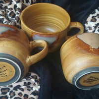Three Stunning Sango Splash Jumbo Size Soup Coffee Mugs