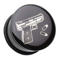 Glock Pistol Single Flared Ear Gauge Plug