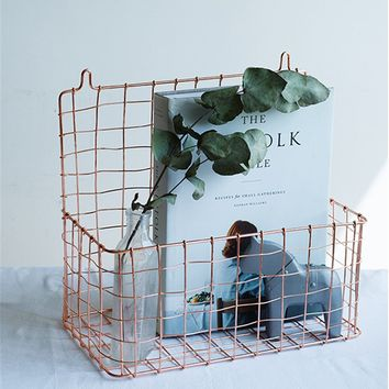 The SONDER Flat Co. Signature Collection | Hanging Wire Storage Basket