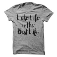 Lake Life Is The Best Life Tshirt Camping T-Shirt Camper Tees Outdoors Shirt