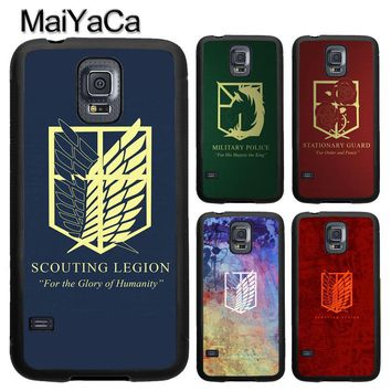 Cool Attack on Titan MaiYaCa  Symbol Logo Case For Samsung Galaxy S8 S9 Plus S4 S5 S6 S7 edge Note 8 Note 5 Soft Rubber Back Cover AT_90_11