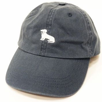 Faded Blue Dachshund Logo Baseball Cap - Mookie