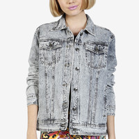 BFF Oversized Acid Wash Denim Jacket