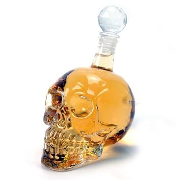 Crystal Skull Vodka Bottles Skull Head Bottle Creative Gothic Wine Vodka Decanter 125ML 350ML 550ML 1000ML 4Sizes Drop Shipping