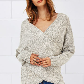 Cupshe Grin and Flare It Cross Plunging Sweater