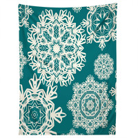 Lisa Argyropoulos Flurries on Teal Tapestry