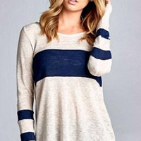 Lightweight Fall Sweater - Navy