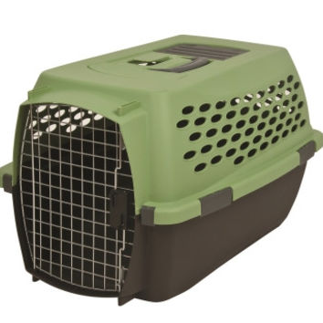 Petmate Vari Portable Fashion Travel Pet Kennel Green 24 Inch Small