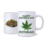 HAPPY FATHERS DAY POTHEAD NUG MUG