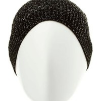 Metallic Open Knit Beanie by Charlotte Russe