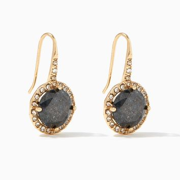 Crackle Stone Drop Earrings | Charming Charlie