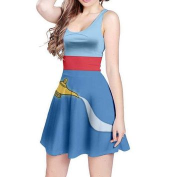 Genie Aladdin Inspired Sleeveless Dress