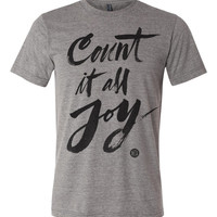 Count It All Joy Grey Vintage Tee