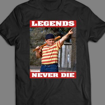 VINTAGE THE SANDLOT LEGENDS NEVER DIE T-SHIRT