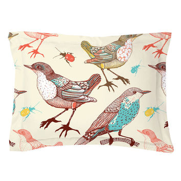 Birds and Beetles Pillow Shams