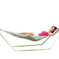 Texsport Seadrift Hammock with Pillow and Stand Included Easy Set Up